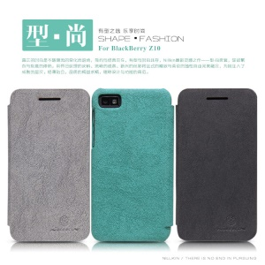 Nillkin New Tree-texture Leather Case for BlackBerry Z10 BB 10 + Screen Film