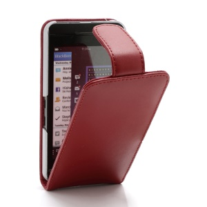 Doormoon Genuine Leather Vertical Flip Case Cover for BlackBerry Z10 BB 10 - Red