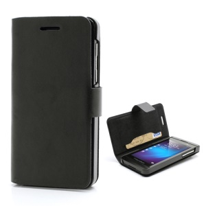 Doormoon Genuine Leather Case w/ Card Slot for BlackBerry Z10 BB 10 - Black