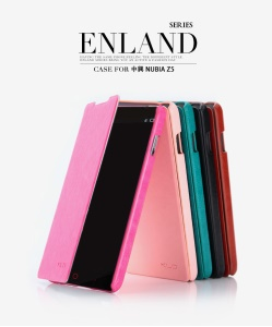 KLD England Series Wallet Stand Leather Flip Case Cover for ZTE Nubia Z5