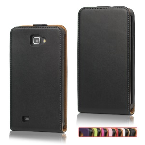 High Quality Genuine Split Leather Flip Case for Samsung Galaxy Note I9220 GT-N7000 I717