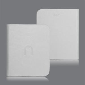 High Quality Leather Case Cover for Barnes Noble Nook 2 2nd Simple Touch - White