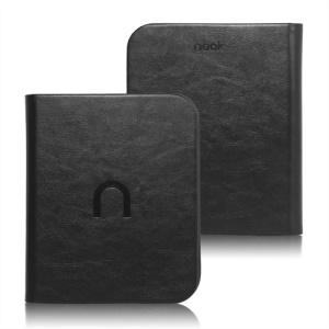 High Quality Leather Case Cover for Barnes Noble Nook 2 2nd Simple Touch - Black