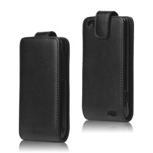Vertical Leather Flip Case for HTC One V T320e