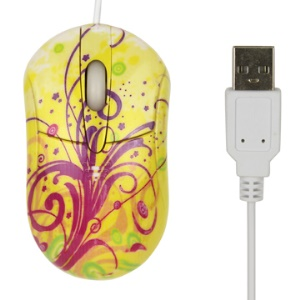 Yellow 3D USB Optical Mouse for PC Laptop
