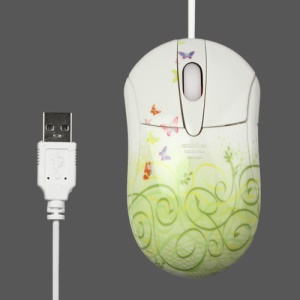 Stylish 800DPI USB Optical Mouse with Colorful Patterns for PC Laptop