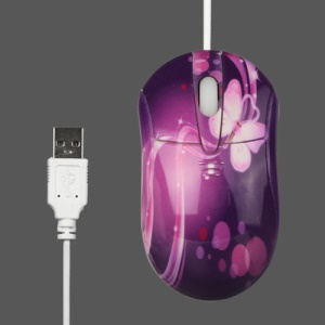 Purple USB Optical Mouse for PC Laptop