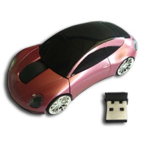 2.4GHz Mini Car Shape Wireless Optical Mouse for Laptop &amp; Computer