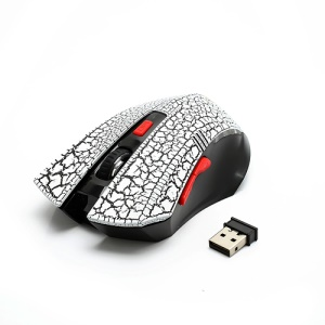 JITE Gravel Textured 2.4GHz Wireless Mouse w/ Nano USB Receiver - Black / White