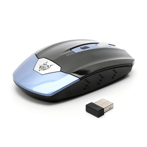 JITE 2.4GHz Wireless Mouse Mice w/ USB 2.0 Receiver for PC Laptop - Black / Blue