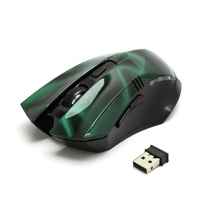 Visual 2.4GHz Wireless Optical Mouse Mice + USB 2.0 Receiver for PC Laptop - Green