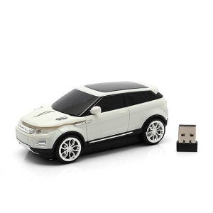 Cool Car Shaped 2.4GHz Wireless Optical Mouse w/ Mini Receiver for PC Laptop - White