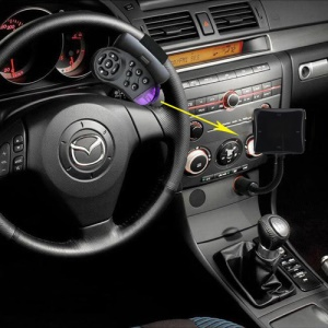 Car LCD Bluetooth SD MMC MP3 FM Handfree Steering Transmitter