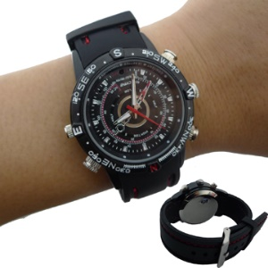 Secret Waterproof Spy Watch , Wrist Pinhole Camera,  Mini Hidden Dvr Mp9