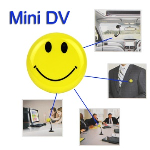 Mini Smile Face DV Sports HD Car DVR Video Spy Camera