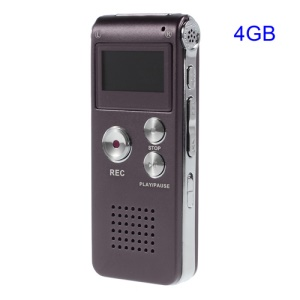 SK-012 Portable 4GB Digital Voice Recorder Dictaphone USB Flash Drive MP3 Player - Purple