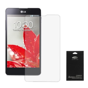 Super Clear Screen Protector Guard Film for LG Optimus G E973 E975 (Black Packing)