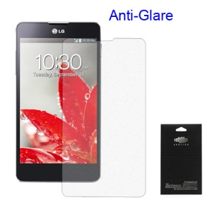 Anti-Glare Frosted Screen Protector Guard Film for LG Optimus G E973 E975 (Black Packing)