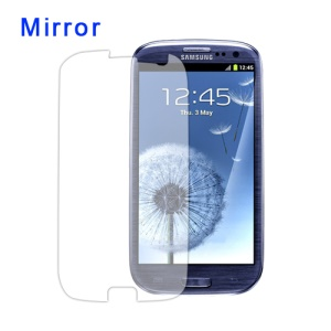 Mirror Screen Protector Film for Samsung GT-I9300 Galaxy S 3 / III