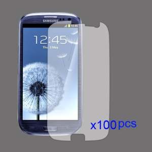 100PCS Clear LCD Screen Guard for Samsung Galaxy S 3 / III I9300 I747 L710 T999 I535 R530