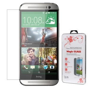 0.26mm 2.5D Anti-explosion Tempered Glass Screen Guard Film for HTC One M8 (Arc Edge)