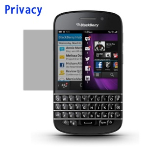 Privacy Anti-Spy LCD Screen Guard Film Protector for BlackBerry Q10