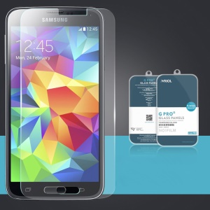 Wriol G Series 2.5D 9H Anti-explosion Tempered Glass Screen Protector for Samsung Galaxy S5 G900 (Arc Edge)