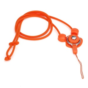 Elastic Silicone Rabbit Neck Lanyard Strap String for Cell Phone Digital Camera MP3 Pen USB Drive - Orange