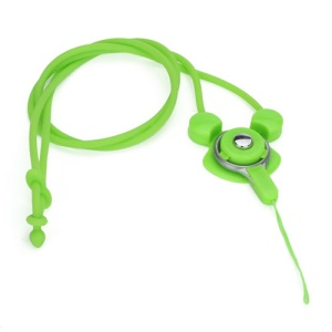 Elastic Silicone Rabbit Neck Lanyard Strap String for Cell Phone Digital Camera MP3 Pen USB Drive - Green