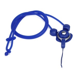 Elastic Silicone Rabbit Neck Lanyard Strap String for Cell Phone Digital Camera MP3 Pen USB Drive - Dark Blue