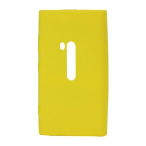 Silicone Rubber Jelly Case for Nokia Lumia 920 - Yellow
