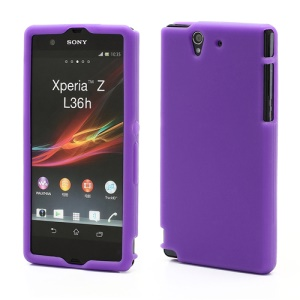 Soft Silicone Case Cover Accessories for Sony Xperia Z C6603 L36h Yuga - Purple