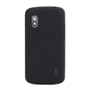 Flexible Silicone Skin Case Cover for LG E960 Mako Google Nexus 4 - Black
