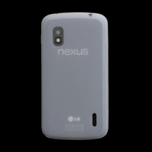 Flexible Silicone Skin Case Cover for LG E960 Mako Google Nexus 4 - White