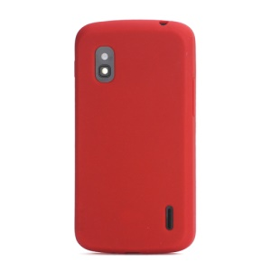 Flexible Silicone Skin Case Cover for LG E960 Mako Google Nexus 4 - Red