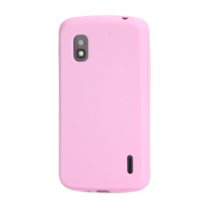Flexible Silicone Skin Case Cover for LG E960 Mako Google Nexus 4 - Pink