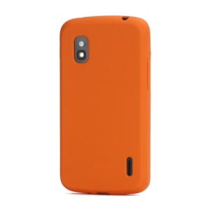 Flexible Silicone Skin Case Cover for LG E960 Mako Google Nexus 4 - Orange