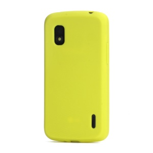 Flexible Silicone Skin Case Cover for LG E960 Mako Google Nexus 4 - Yellow