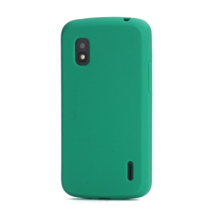 Flexible Silicone Skin Case Cover for LG E960 Mako Google Nexus 4 - Green