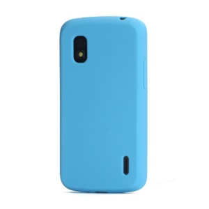 Flexible Silicone Skin Case Cover for LG E960 Mako Google Nexus 4 - Blue