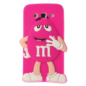 Rose Cute Happy M&Ms Bean Candy Silicone Case for Samsung Galaxy Grand 2 Duos G7102 G7105
