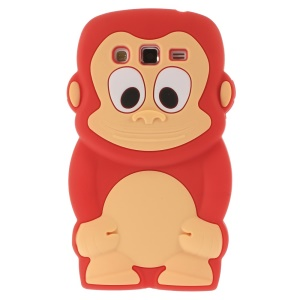 Red Cute 3D Monkey Silicone Cover for Samsung Galaxy Grand 2 Duos G710S G7100