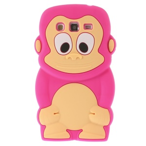 Rose Cute 3D Monkey Silicone Shell for Samsung Galaxy Grand 2 Duos G710S G7100