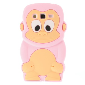 Pink Cute 3D Monkey Silicone Skin Shell for Samsung Galaxy Grand 2 Duos G710S G7100