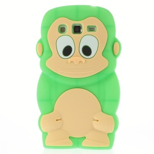 Green Cute 3D Monkey Silicone Skin Case for Samsung Galaxy Grand 2 Duos G710S G7100