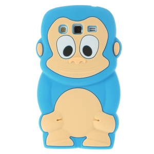 Blue Cute 3D Monkey Silicone Skin Cover for Samsung Galaxy Grand 2 Duos G710S G7100