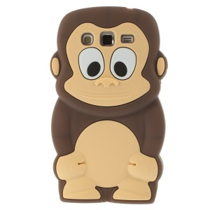 Brown Cute 3D Monkey Silicone Case Shell for Samsung Galaxy Grand 2 Duos G710S G7100