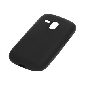 Silicone Jelly Skin Case Cover for Samsung Galaxy S III / 3 Mini I8190 - Black