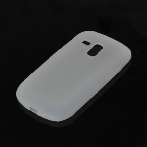 Silicone Jelly Skin Case Cover for Samsung Galaxy S III / 3 Mini I8190 - White