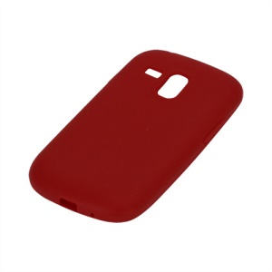 Silicone Jelly Skin Case Cover for Samsung Galaxy S III / 3 Mini I8190 - Red